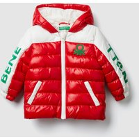 """Benetton, """"eco-recycle"""" Padded Jacket With Logo, size 98, Red, Kids"""