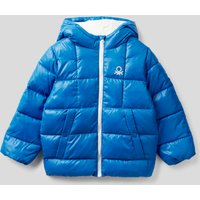 Benetton, Padded Jacket In Recycled Wadding, size XS, Bright Blue, Kids