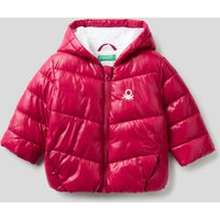 Benetton, Padded Jacket In Recycled Wadding, size 68, Cyclamen, Kids
