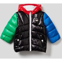 Benetton, Padded Jacket In Recycled Wadding, size 74, Black, Kids