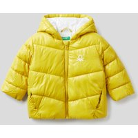 Benetton, Padded Jacket In Recycled Wadding, size 68, Yellow, Kids
