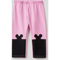 Benetton, Leggings With Mickey Mouse Print, size 82, Pink, Kids