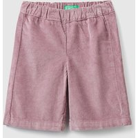 Benetton, Cropped Velvet Trousers, size 82, Lilac, Kids