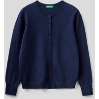 Benetton Online exclusive, Cardigan With Buttons, size XL, Dark Blue, Kids