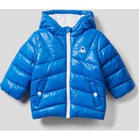 Benetton, Padded Jacket In Recycled Wadding, size 74, Bright Blue, Kids