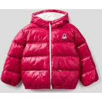 Benetton, Padded Jacket In Recycled Wadding, size XS, Cyclamen, Kids