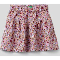 Benetton, Flowy Skirt With Floral Print, size XL, Lilac, Kids