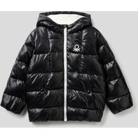 Benetton, Padded Jacket In Recycled Wadding, size XS, Black, Kids