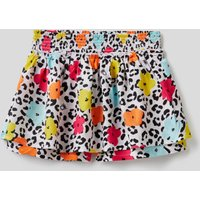 Benetton, Patterned Shorts With Maxi Ruffle, size XL, Multi-color, Kids