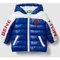 """Benetton, """"eco-recycle"""" Padded Jacket With Logo, size 98, Bright Blue, Kids"""