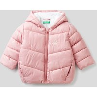 Benetton, Padded Jacket In Recycled Wadding, size 62, Pink, Kids