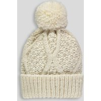 edff7a1d805 Matalan Girls Cable Knit Bobble Hat (3-13yrs) in age 3 - 7 years cream