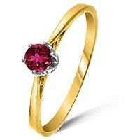 9ct Gold 0.25Ct Rubelite Ring