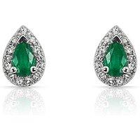 9ct Emerald & Diamond Earrings at JD Williams Catalogue