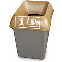 '30 Litre Recycling Bin, Paper Graphic, Blue