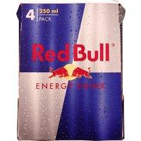Product Red Bull blik 4-pack 4x25CL