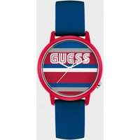 'Guess Stripe Motif Logo Case Watch