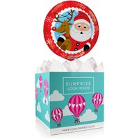 Jolly Santa Balloon Box