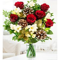Festive Rose & Freesia - Free Chocs