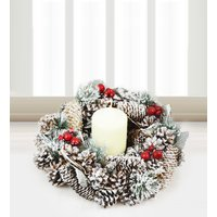 Noel Wreath and Candle - Free Chocs