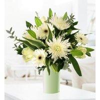 Cherish - Free Chocs - Sympathy Flowers - Condolence Flowers - Flower Delivery - White Bouquet