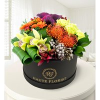 Exotic and Chic - Hat Box Flowers - Luxury Flowers - Exotic Flowers