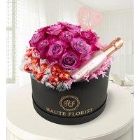 Celebration Hat Box - Luxury Flowers - Hat Box Flowers