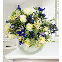 Niagra - Haute Florist Flowers - Luxury Flowers - Iris, Thistles and Freesias - Flowers - Next Day Flowers - Blue Bouquet