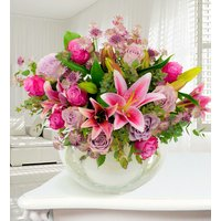Paris - Haute Florist Flowers - Luxury Flowers - Roses and Oriental Lilies - Flower Delivery - Next Day Flowers - Pink Bouquet