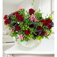 Onyx - Haute Florist Flowers - Luxury Flowers - Grand Prix Roses and Calla Lilies - Flower Delivery - Flowers - Next Day Flowers