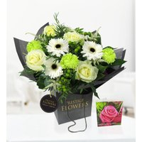 Windsor - Free Chocs - Luxury Flowers - White Avalanche Roses - Next Day Flowers - Flower Delivery