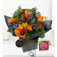 Tikal - Free Chocs - Flowers - Luxury Flowers - Orange Calla Lilies and Roses - Flower Delivery