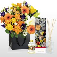 Bosschaert Bouquet and Diffuser - National Gallery Flowers - Luxury Flowers - Flower Delivery - Birthday Gifts