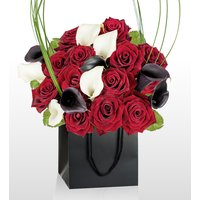 London Bouquet - National Gallery Flowers - Luxury Flowers - Red Roses and Calla Lilies - Flower Delivery