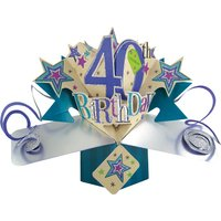 40th Birthday Pop Card