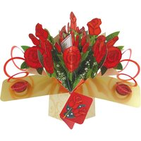 Red Roses Pop Card