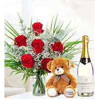 Classic Romance Bundle - Free Chocs - Red Roses - Anniversary Gifts