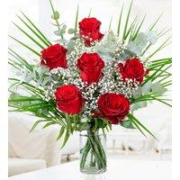 My Valentine - Free Chocs - 6 Red Roses - Valentine's Flowers
