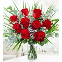 Romantic Roses - Free Chocs - Red Roses - Anniversary Flowers - Romantic Flowers - Flower Delivery - Next Day Flowers