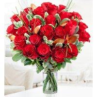 Luxury 24 Roses - Valentine's Flowers - 24 Red Roses - Anniversary Flowers