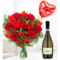 Prosecco and J'adore Bouquet - Free Chocs