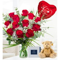 Classic Red Rose Bundle - Valentine's Flowers - Valentine's Gifts - 12 Red Roses