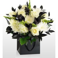 Monochrome - National Gallery Flowers - National Gallery Bouquets - Black and White Flowers - Luxury Flowers - Luxury Flower Delivery