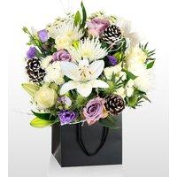 Monet Snow Scene - National Gallery Flowers - National Gallery Bouquets - Christmas Flowers - Christmas Bouquets - Christmas Flower Delivery - Luxury Christmas Flowers