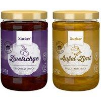 Xucker 2er Fruchtaufstrich-Kombi Apfel-Zimt, Zwetschge (2x220g)