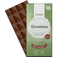 Xucker Edel Vollmilchschokolade mit Xylit und Haselnüssen (80g)