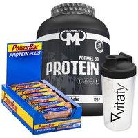 Mammut Formel 90 Protein (3000g) + Vitafy Essentials Shaker (600ml) + PowerBar Protein Plus 30% (15x55g)