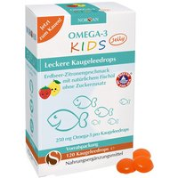 Norsan Omega-3 Kids Jelly Erdbeer-Zitrone (120 Kaugeleedrops)