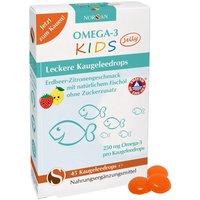 Norsan Omega-3 Kids Jelly Erdbeer-Zitrone (45 Kaugeleedrops)