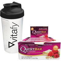 Quest Nutrition Quest Bar 12x60g + Vitafy Shaker 600ml
